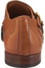 Alexander Mcqueen Bicolor Double Monk in Brown for Men (gold) - Lyst