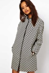 ASOS Collection Asos Geo Pattern Coat - Lyst