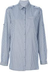 Balmain Striped and Studded Shirt - Lyst