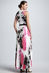 Christopher Kane Printed Halftab Pleated Maxi Dress - Lyst