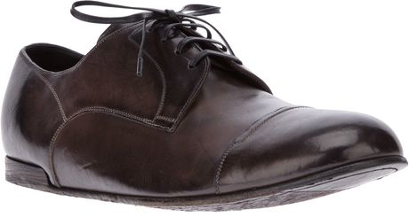 Dolce & Gabbana Laceup Derby Shoe in Brown for Men (black)