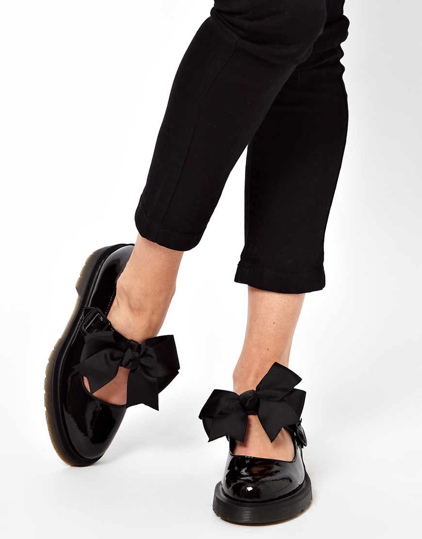 Lyst - Dr. Martens Mariel Bow Mary Jane Shoes in Black 3451452e1