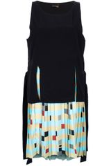 Fendi Pleated Print Dress - Lyst