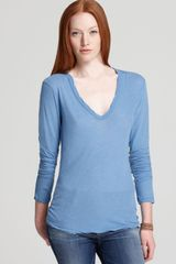 James Perse Tee Soft V Long Sleeve - Lyst