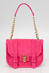 Proenza Schouler Ps1 Suede Mini Messenger Bag - Lyst