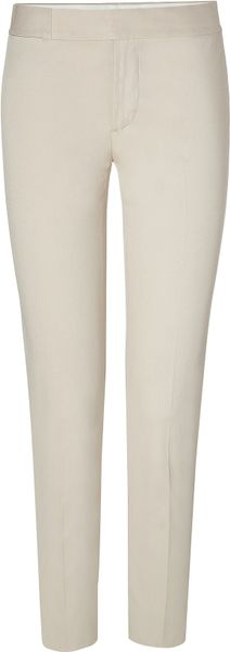 Ralph Lauren Spring Beige Cotton New Ariana Skinny Pants in Beige - Lyst