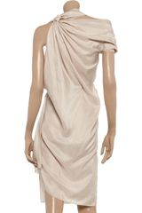 Roland Mouret Bonnie Silkhabotai Asymmetric Dress - Lyst