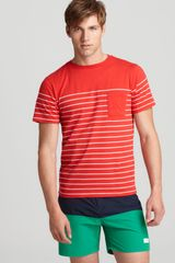 Saturdays Surf Nyc Randall Stripe Tee - Lyst
