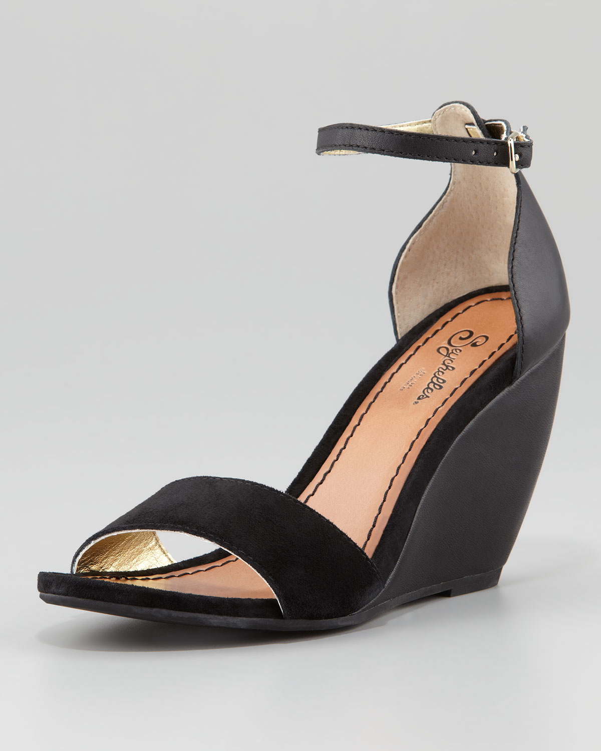 Seychelles Thyme Wedge Sandal In Black Lyst