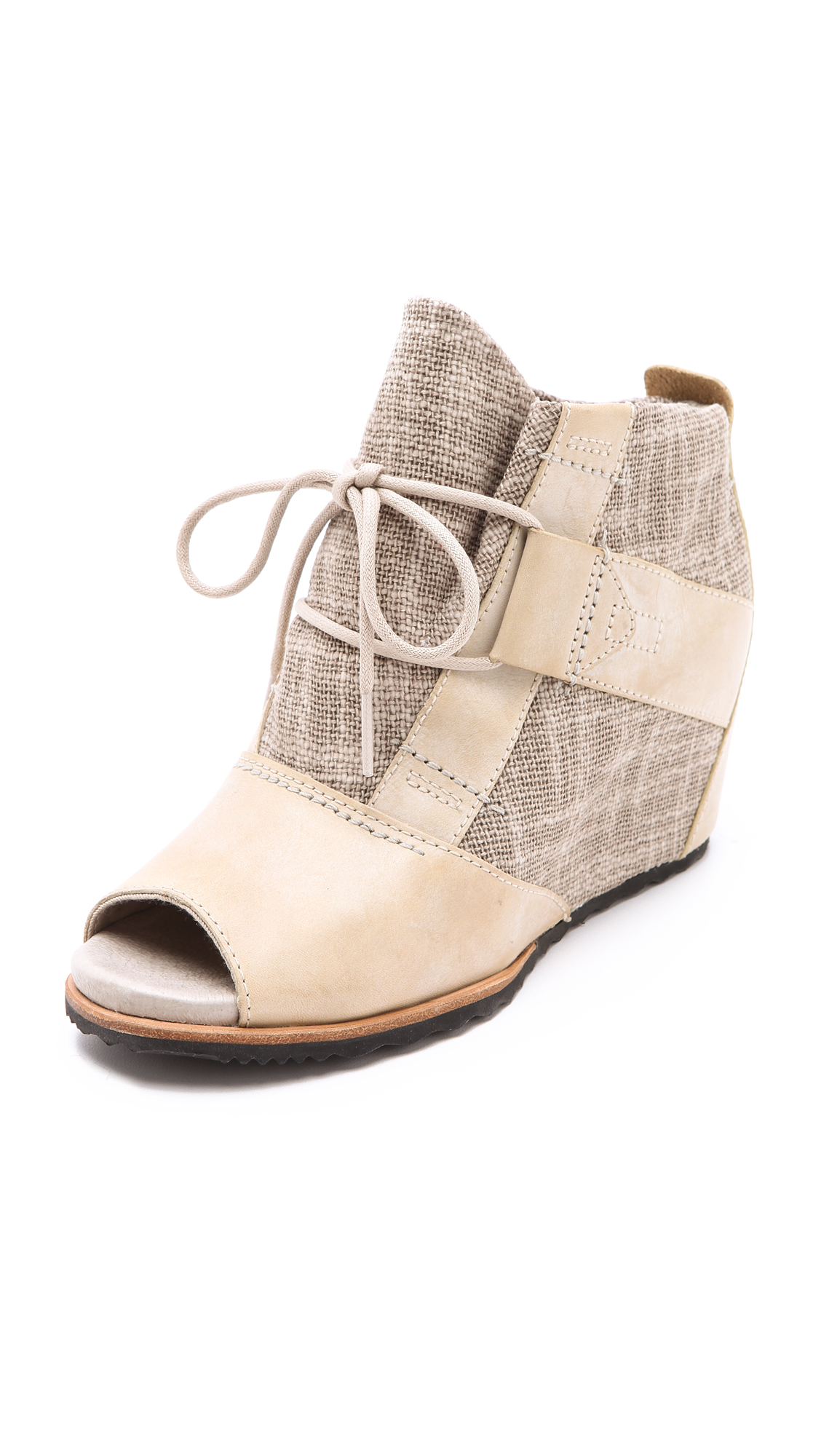 Sorel Lake Wedge Booties In Natural Lyst