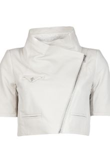 Yigal Azrouel Textured Leather Jacket - Lyst