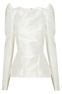 Zac Posen Structured Silktaffeta Top - Lyst