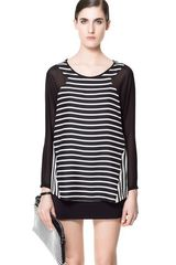 Zara Combination Striped Top