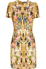 Alexander McQueen Printed Cady Dress