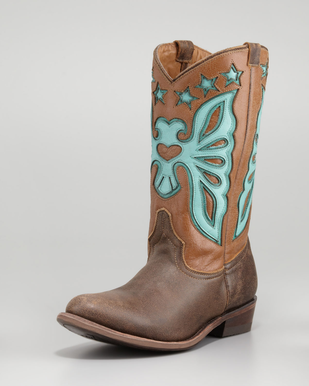 Ash Jango Butterfly Cowboy Boot in Brown | Lyst