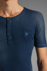 Diesel Distillation Henley Tee in Midnight in Blue for Men (navy) - Lyst