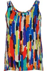 Labour Of Love Abstract Print Tank - Lyst