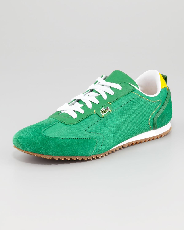 lyst lacoste wescott lowprofile nylon sneaker green in green for men. Black Bedroom Furniture Sets. Home Design Ideas
