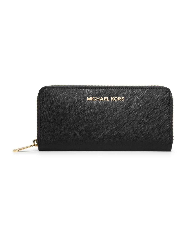 abf1fc44d Black Saffiano Leather Wallet Michael Kors. Michael michael kors Jet Set ...