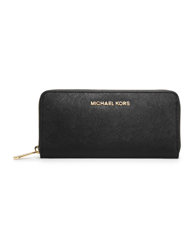Michael michael kors Jet Set Continental Saffiano-Leather ...