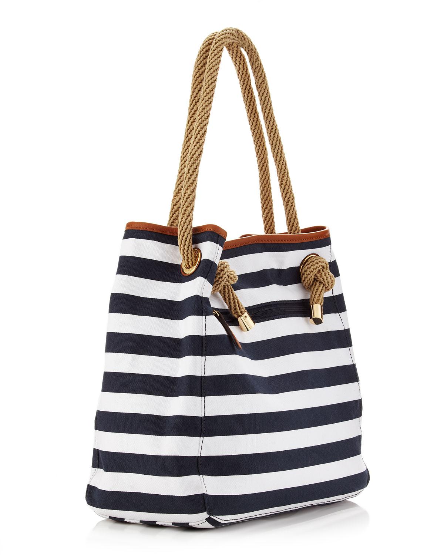 06f6dde275b ... sale lyst michael kors marina large canvas grab bag in white ea2dc 2774e