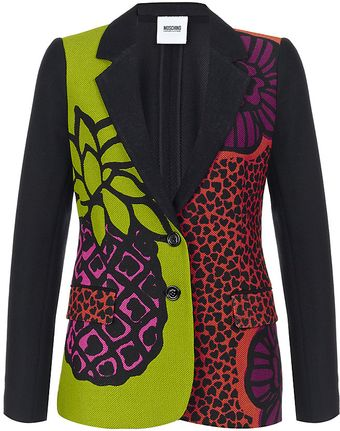 Moschino Cheap & Chic Tropical Print Blazer - Lyst