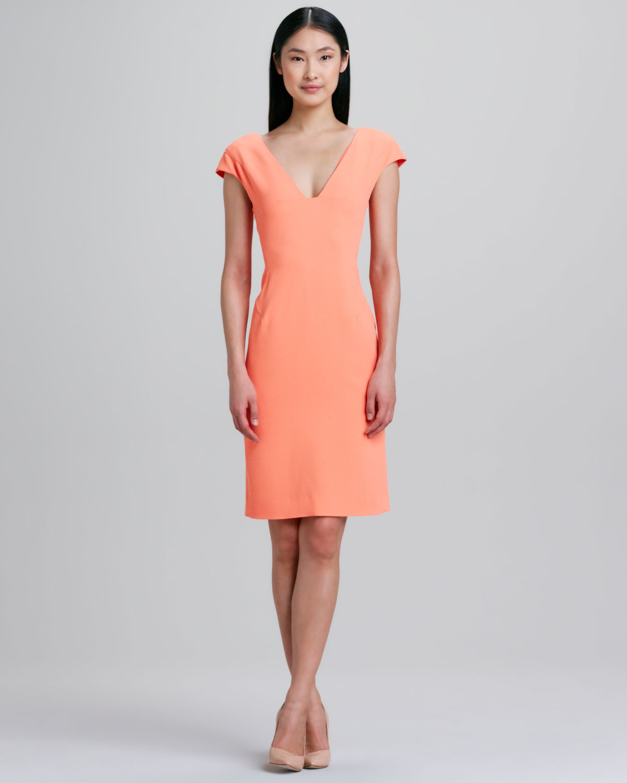 Lyst Rachel Roy Cap Sleeve Dress In Orange