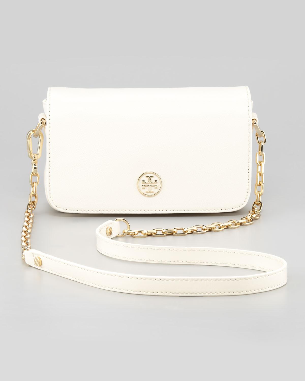 8ca848eae4a ... sale lyst tory burch chain strap mini bag in white 60cd6 16a48