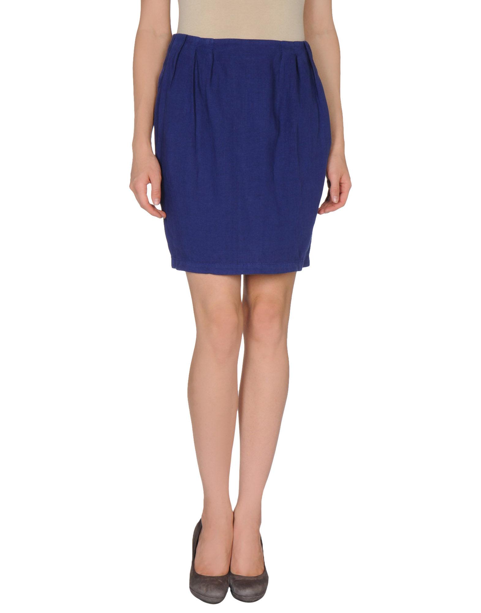 armani knee length skirt in purple violet lyst