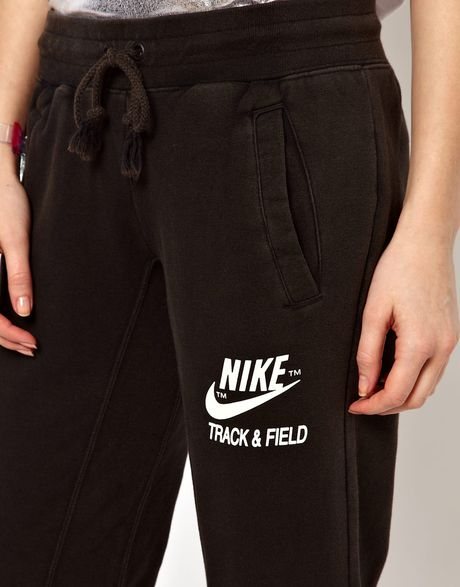 nike track field sweat pants in black lyst. Black Bedroom Furniture Sets. Home Design Ideas