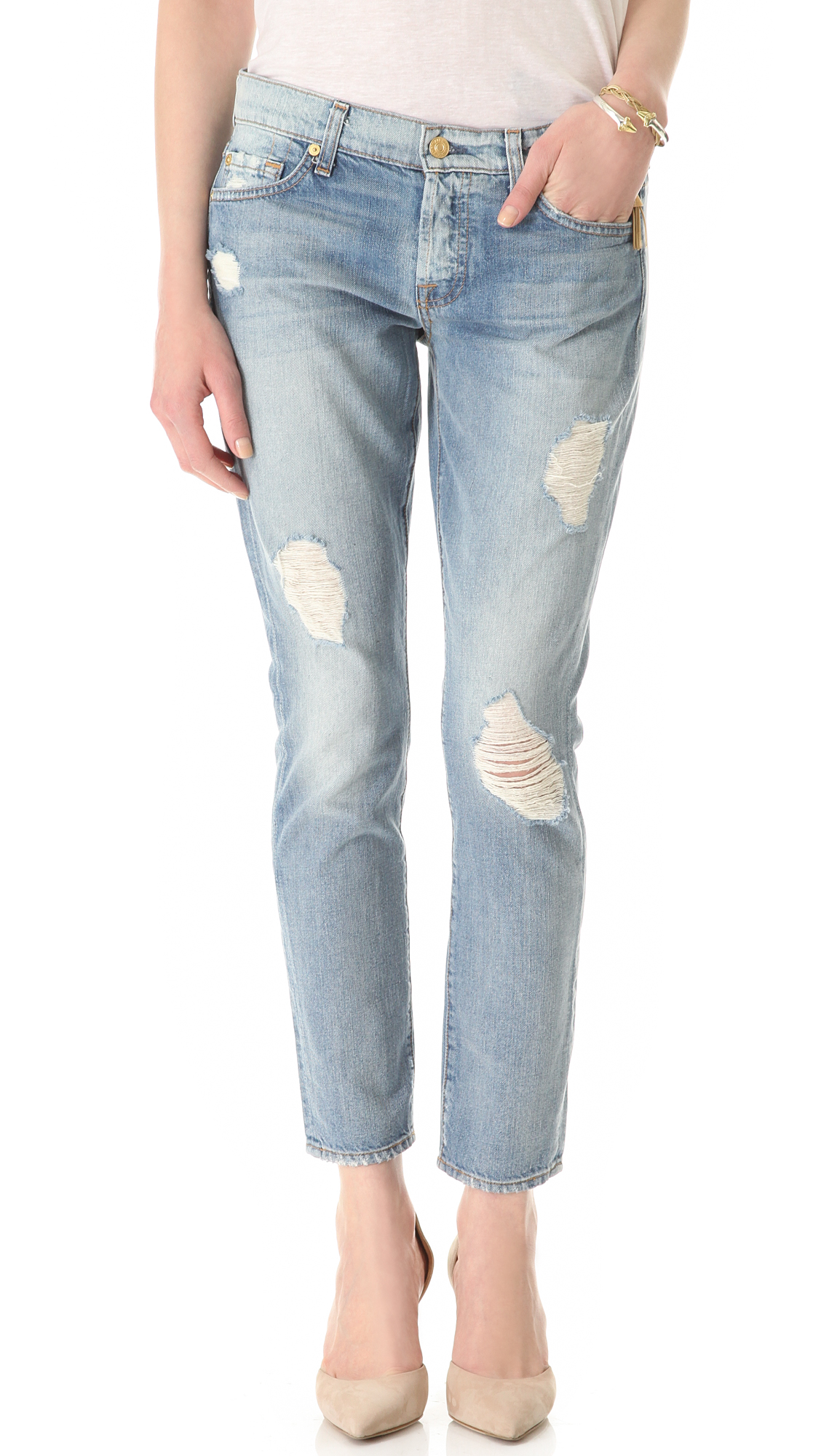 REDONE High Rise Rigid Stove Pipe Jeans  SHOPBOP