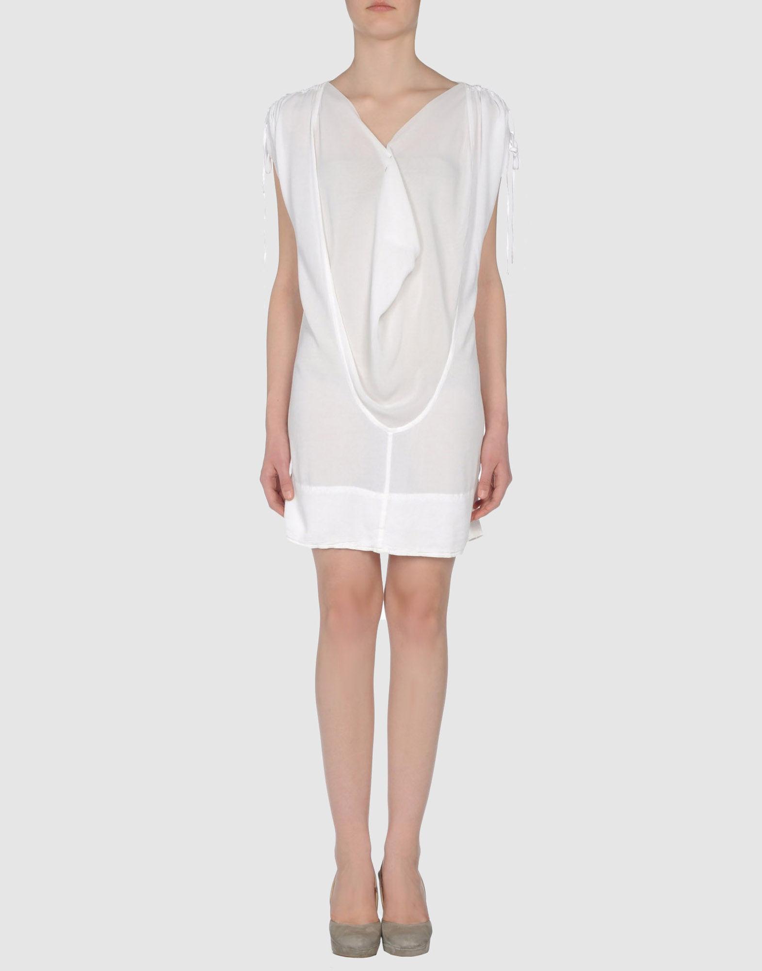 Baby ceylon Short Dress in White