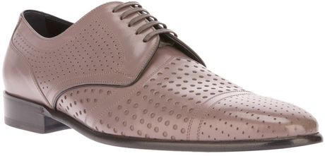 Dolce & Gabbana Perforated Lace Up in Pink for Men (grey) - Lyst