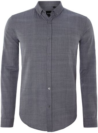 Hugo Boss Faint Check Long Sleeve Shirt - Lyst