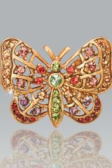 Jay Strongwater Multicolor Butterfly Tack Pin - Lyst