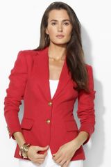 Lauren by Ralph Lauren Twobutton Linen Jacket - Lyst
