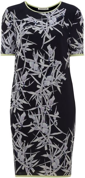 Whistles Orchid Print Shift Dress - Lyst