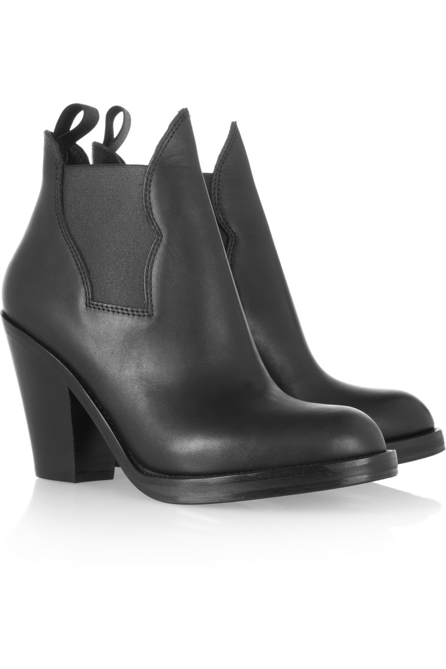 acne star leather ankle boots in black lyst. Black Bedroom Furniture Sets. Home Design Ideas