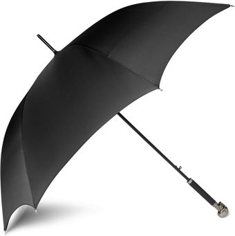 Alexander McQueen Silver Skull Handle Umbrella - Lyst