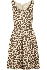 Alice By Temperley Felina Leopardprint Cottonpoplin Mini Dress - Lyst
