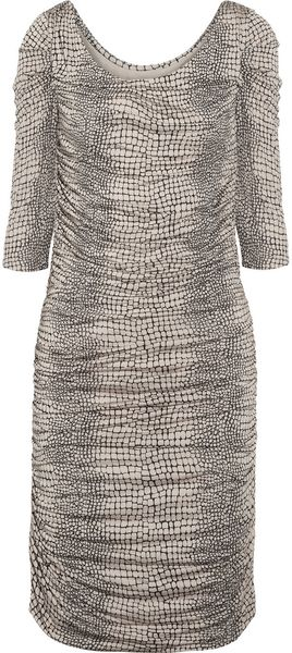Alice By Temperley Raquel Ruched Printed Jersey Dress - Lyst