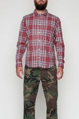 Cheap Monday Loose Pocket Shirt in Plaid - Lyst