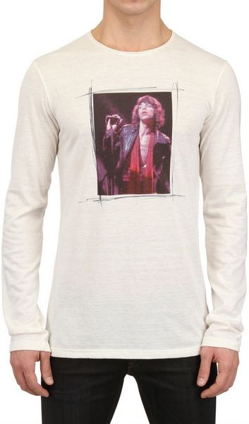 Dolce & Gabbana Mick Jagger Cotton Rayon Jersey Tshirt in White for Men (off white) - Lyst