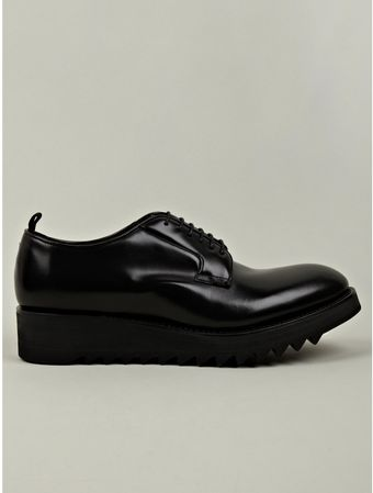 DSquared2 Mens Black Shark Lace Up Leather Shoe - Lyst