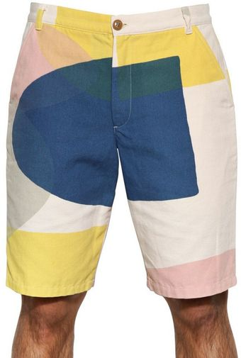 Folk 25cm Printed Cotton Gabardine Shorts - Lyst