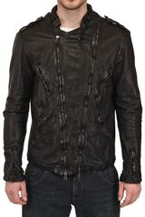 Giorgio Brato Vegetable Treated Nappa Leather Jacket - Lyst
