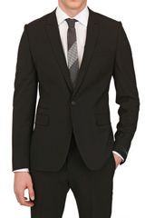 Givenchy One Button Stretch Cool Wool Suit in Black for Men - Lyst