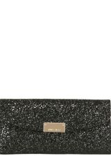 Jimmy Choo Riane Glitter Fabric Clutch - Lyst