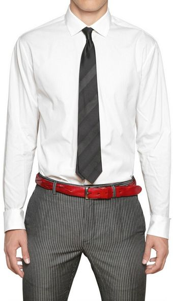 John Varvatos Tone On Tone Striped Cotton Shirt - Lyst