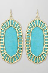 Kendra Scott Delilah Large Drop Earrings Turquoise - Lyst